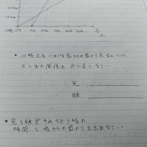 教育メモ 一次関数の文章題 2