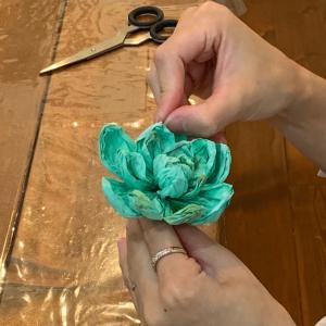 クリエイティブコース…ペーパーフラワーレッスン多肉植物