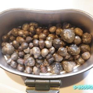むかご・キジバト・タケノコを使って炊き込みご飯を作る