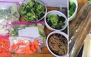野菜を下拵え