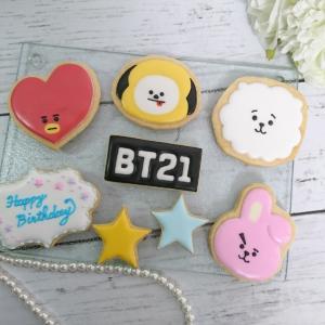 BT21のアイシングクッキー♡