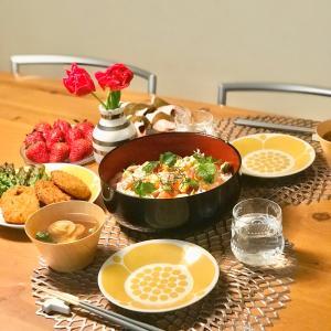 北欧食器でひな祭りごはん♡ & スーパーセール!で欲しいモノとお得情報(^^♪