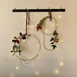 【Xmasインテリア】庭の植物と北欧雑貨でステキなXmasリースが完成(*´꒳`*)