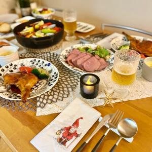 【2020年】北欧食器でクリスマスディナー☆ & ラストポチは半額の美味しいモノなど(^^♪