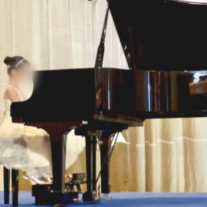 娘7歳 はじめてのピアノ発表会