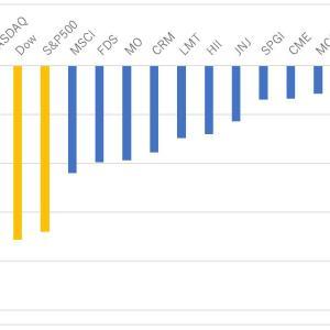 S&P500と個別株ポートフォリオの下落率を比較