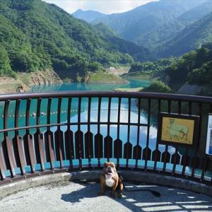 奥四万湖☆ダムと甌穴