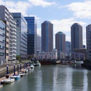 亀島川緑道の眺め