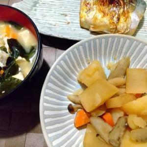 煮物はレンジで下茹で。急かされて作る晩御飯がプレッシャー。