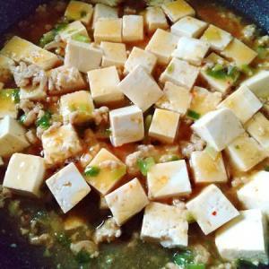 鶏ひき肉でクックパッドの麻婆豆腐と自分用の雑穀ごはん