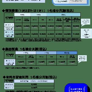 【重要】料金改訂(料金とコース)のご案内