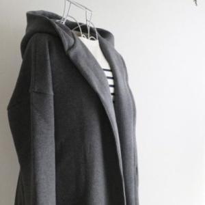 無印良品おすすめの服『二重編みフード付きコート』でカジュアルコーデ【2019年秋】