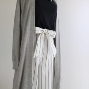 ワイドパンツの夏のコーデには、無印良品のいつもの定番服がぴったりだった