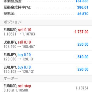 DirectionArrow売買システム!現在3通貨でポジション保有中^^