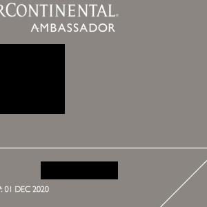 コロナの影響によるインターコンチネンタルアンバサダーのメンバーシップ延長とエリートステータスの延長について
