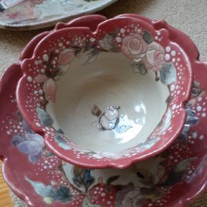 ピンクがかわいい薔薇のコーヒーセット