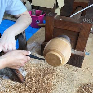 楽しい想い出になるといいな♪手引きロクロで汁椀作りワークショップ
