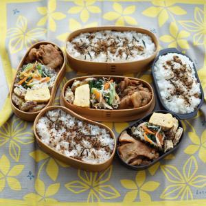 レンジで☆お弁当の彩りナムル【レシピ】入り本日のお弁当3人分