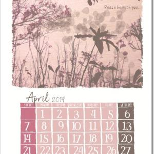 iBu hiNakoオリジナルカレンダー2019/4月