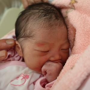無事に出産いたしました。