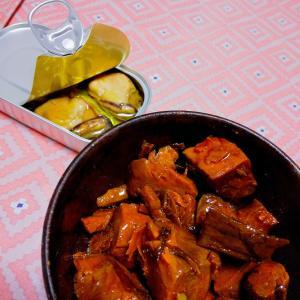 マグロの角煮とスモークドオイスター