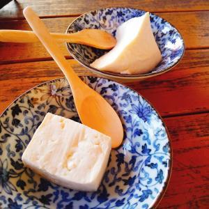 豆腐屋さんの試食