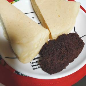 朝食は米粉パンケーキと米粉ブラウニー。女子力高めな九州支部長(おじさん)