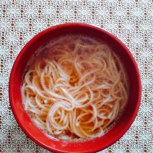 低フォド系ラーメンスープとグルフリ麺でラーメン