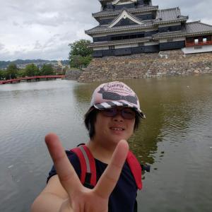 早希ちゃん、松本城に行く