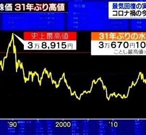 31年ぶりの株価高値!