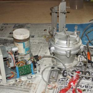アンテナ・ローテーターのメンテ作業が漸く終る。