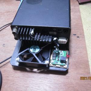 無線機の温度上昇を抑える為のクーリング回路の追加