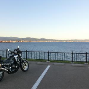 【2日目 函館の夕景】3泊4日青森&北海道バイク旅