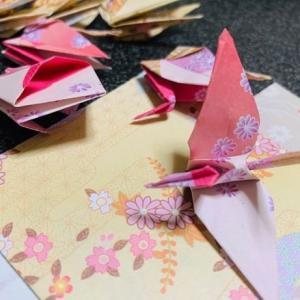 「コロナうつ」に打ち勝つ為に鶴を折る