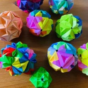 折り紙でくす玉