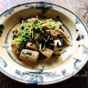 【サクッとできる1品料理】~まぐろの角切りと豆苗炒め~