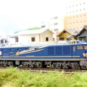 【Nゲージ鉄道模型】KATOEF510 500 北斗星色 ジャンパ栓と復興マークインレタ貼付けディテールアップ工事施行しましたヽ(=´▽`=)ノ