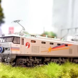 【Nゲージ鉄道模型】KATOEF510 500 カシオペア色ジャンパ栓と復興マークインレタ貼付けディテールアップ工事施行しましたヽ(=´▽`=)ノ