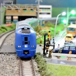 【Nゲージ鉄道模型】<入線整備>マイクロエース  A8672 キハ261系 窓補強 スーパー宗谷 HM・方向幕・号車サボシール貼付け作業施工しましたヽ(=´▽`=)ノ