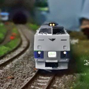 【Nゲージ鉄道模型】<入線整備>TOMIX98261キハ183系 特急 大雪 セットA 4両 HMをオホーツクへ変更パーツ取付&ライト電球色化試みるも見事撃沈_| ̄|○ il||li