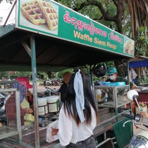 カンボジアのワッフル