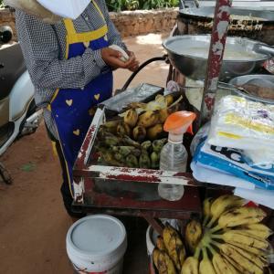 美味しいバナナで揚げバナナ