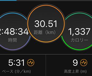 30kmEペース走。きっちり走っときました(`・ω・´)キリッ