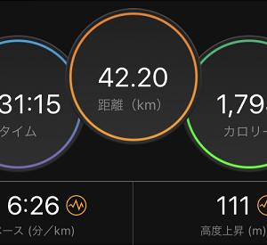 6週連続フルマラソン(以上)走。ひとりででけた(´・ω・`=)