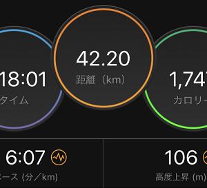 7週連続フルマラソン(以上)走。自分でも何を目指しているのか?わからなくなってきたw