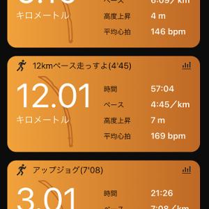 セット練。12kmペース走っすよ?