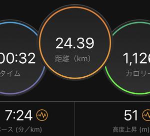 セット練3日目。朝めし前に3時間走り続ける練習。