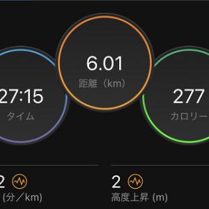 富士山試走前日は6kmLT走