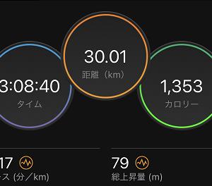 脚づくりの30kmジョグ