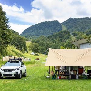 真夏の日射しを防ぐ、最強レクタタープ。tent-Mark DESIGINS「焚火タープTCレクタ」
